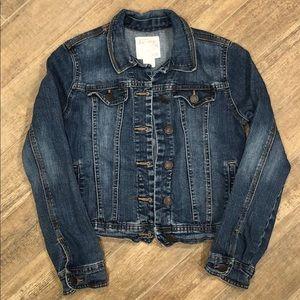 Girls Denim Jacket- Vintage Old Navy size L